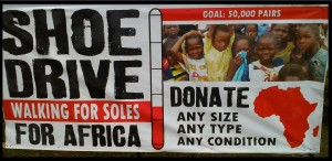 Final Shoe Drive Donation Sign